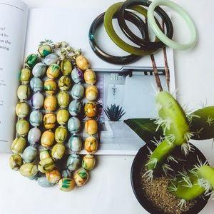 Jewelry - VTG 80s Ethnic/Exotic Necklace-Bangle Set